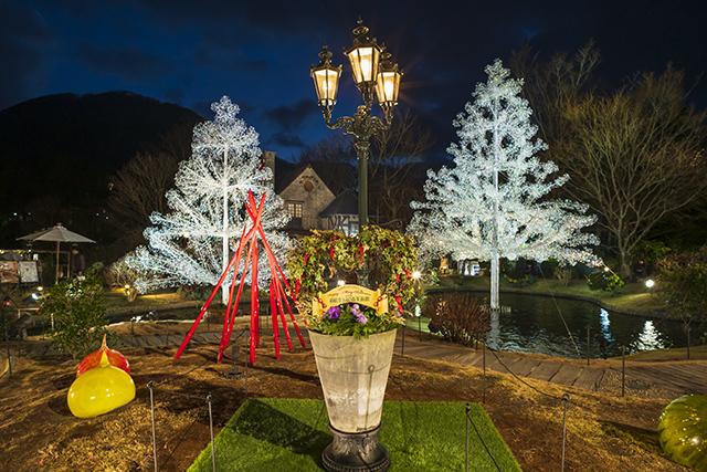 箱根ガラスの森美術館クリスタルガラスのクリスマスツリー 夜編_b0145398_23063928.jpg