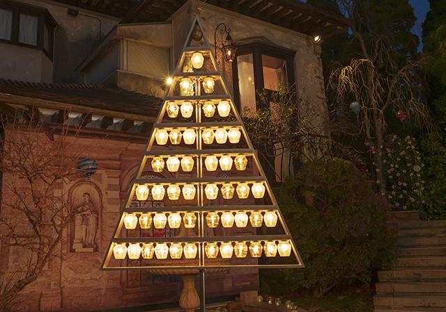 箱根ガラスの森美術館クリスタルガラスのクリスマスツリー 夜編_b0145398_23080401.jpg