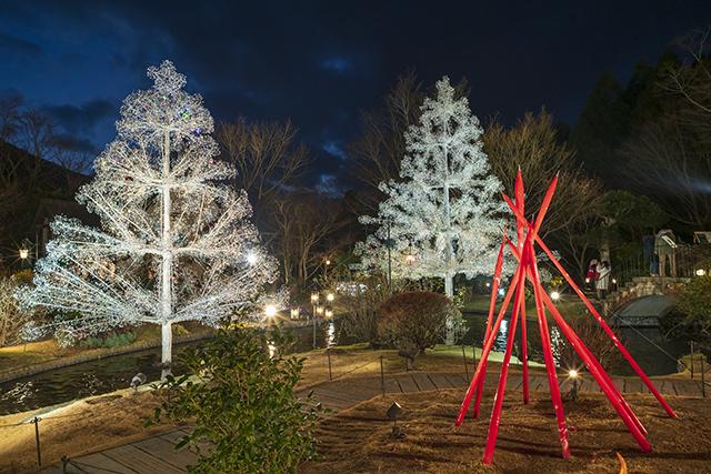 箱根ガラスの森美術館クリスタルガラスのクリスマスツリー 夜編_b0145398_23102989.jpg