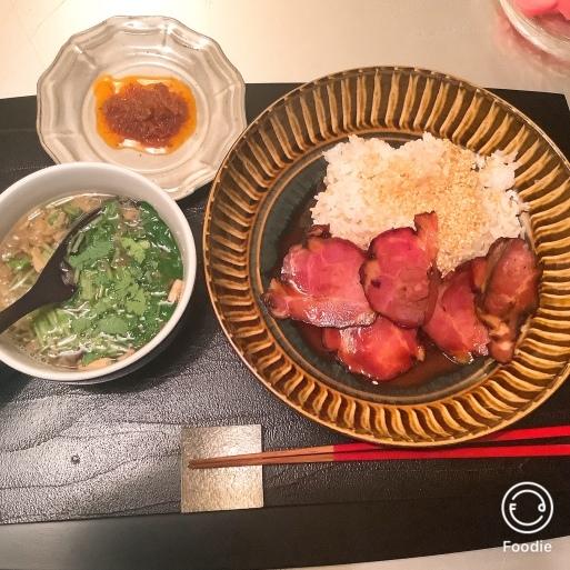 忙しい時の焼豚丼_b0210699_01070176.jpeg