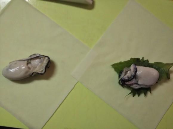 有元先生の牡蠣の春巻き_f0316507_18274442.jpg
