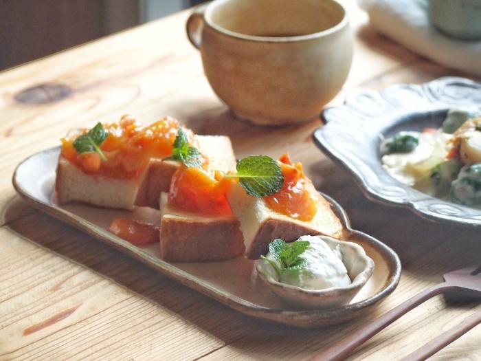 鮭のクリーム煮朝ごはん_b0277136_08420778.jpeg