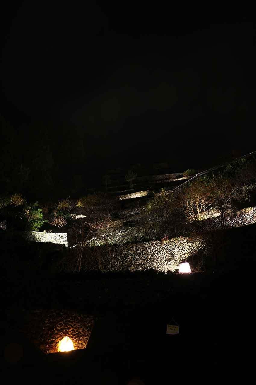 第22回「高開石積みライトアップ」2日目♪+「旧種野小学校」のライトアップ♪_d0058941_20480853.jpg