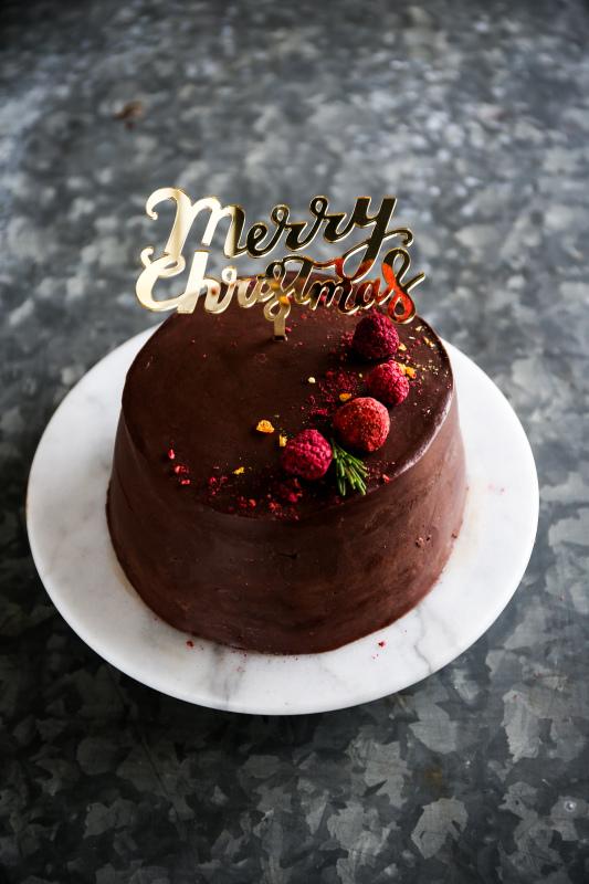 高級チョコレートの クリスマスケーキ_d0034447_20470066.jpg