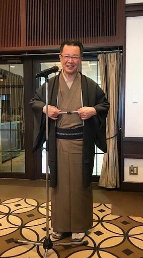 11周年・マサヨさんご夫妻・稲穂に雀の着物・お茶の生徒さん。_f0181251_19310204.jpg