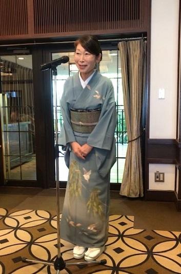 11周年・マサヨさんご夫妻・稲穂に雀の着物・お茶の生徒さん。_f0181251_19331139.jpg