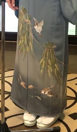 11周年・マサヨさんご夫妻・稲穂に雀の着物・お茶の生徒さん。_f0181251_19343784.jpg