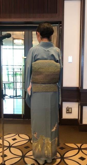 11周年・マサヨさんご夫妻・稲穂に雀の着物・お茶の生徒さん。_f0181251_19353270.jpg