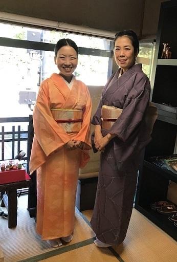 11周年・マサヨさんご夫妻・稲穂に雀の着物・お茶の生徒さん。_f0181251_19411496.jpg