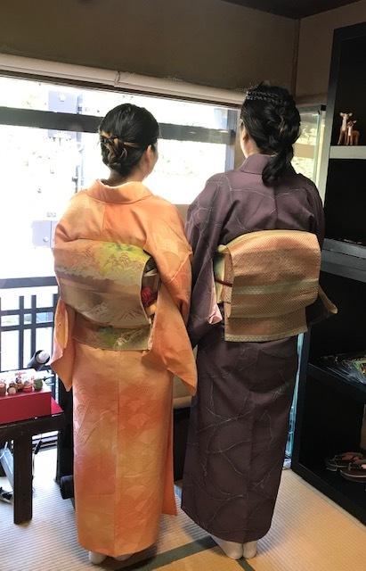 11周年・マサヨさんご夫妻・稲穂に雀の着物・お茶の生徒さん。_f0181251_19442260.jpg