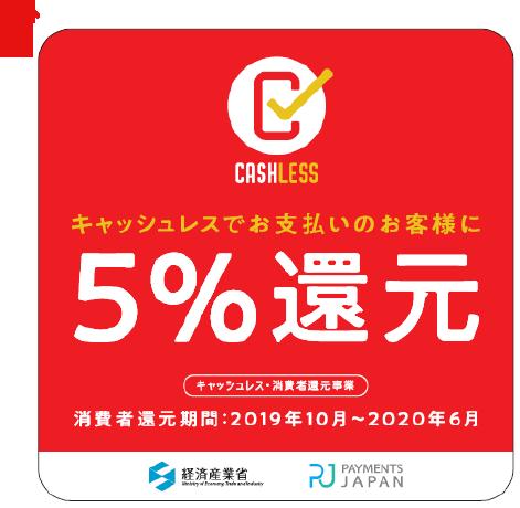 当新宿書道教室はキャッシュレス還元事業に申請 お支払額から5%還元_e0344055_14570764.png