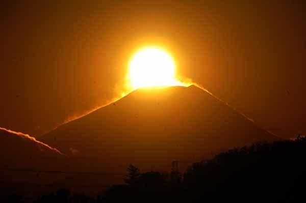 多摩川の夕暮れとダイヤモンド富士_f0173596_18183633.jpg
