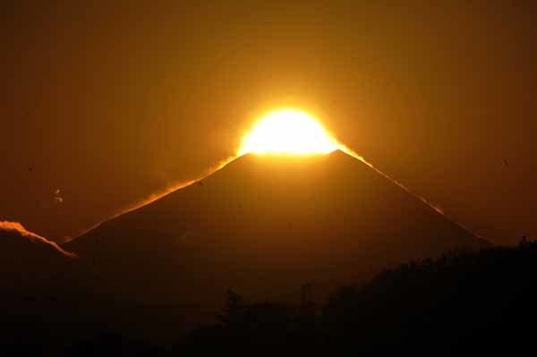 多摩川の夕暮れとダイヤモンド富士_f0173596_18190424.jpg