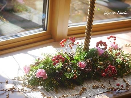 幸せと平和を祈る キャンドルアレンジ&エバーグリーンリース☆_c0098807_23120881.jpg
