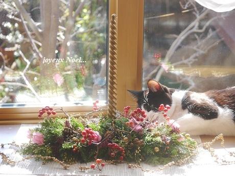 幸せと平和を祈る キャンドルアレンジ&エバーグリーンリース☆_c0098807_23122264.jpg