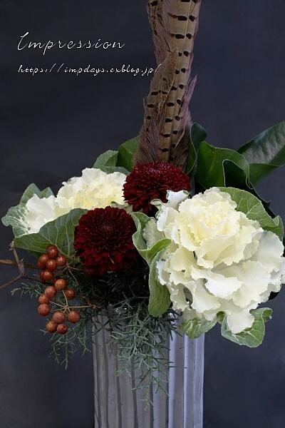 定期装花から ピンポンマム:アブロン_a0085317_16030234.jpg