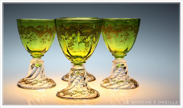 """サン・ルイ クリュニー Saint Louis \""""Cluny\"""" その1 オールド バカラ グラス フランス アンティーク_d0184921_12583990.jpg"""
