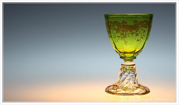 """サン・ルイ クリュニー Saint Louis \""""Cluny\"""" その1 オールド バカラ グラス フランス アンティーク_d0184921_13040306.jpg"""