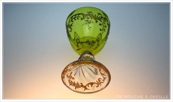 """サン・ルイ クリュニー Saint Louis \""""Cluny\"""" その1 オールド バカラ グラス フランス アンティーク_d0184921_13170749.jpg"""