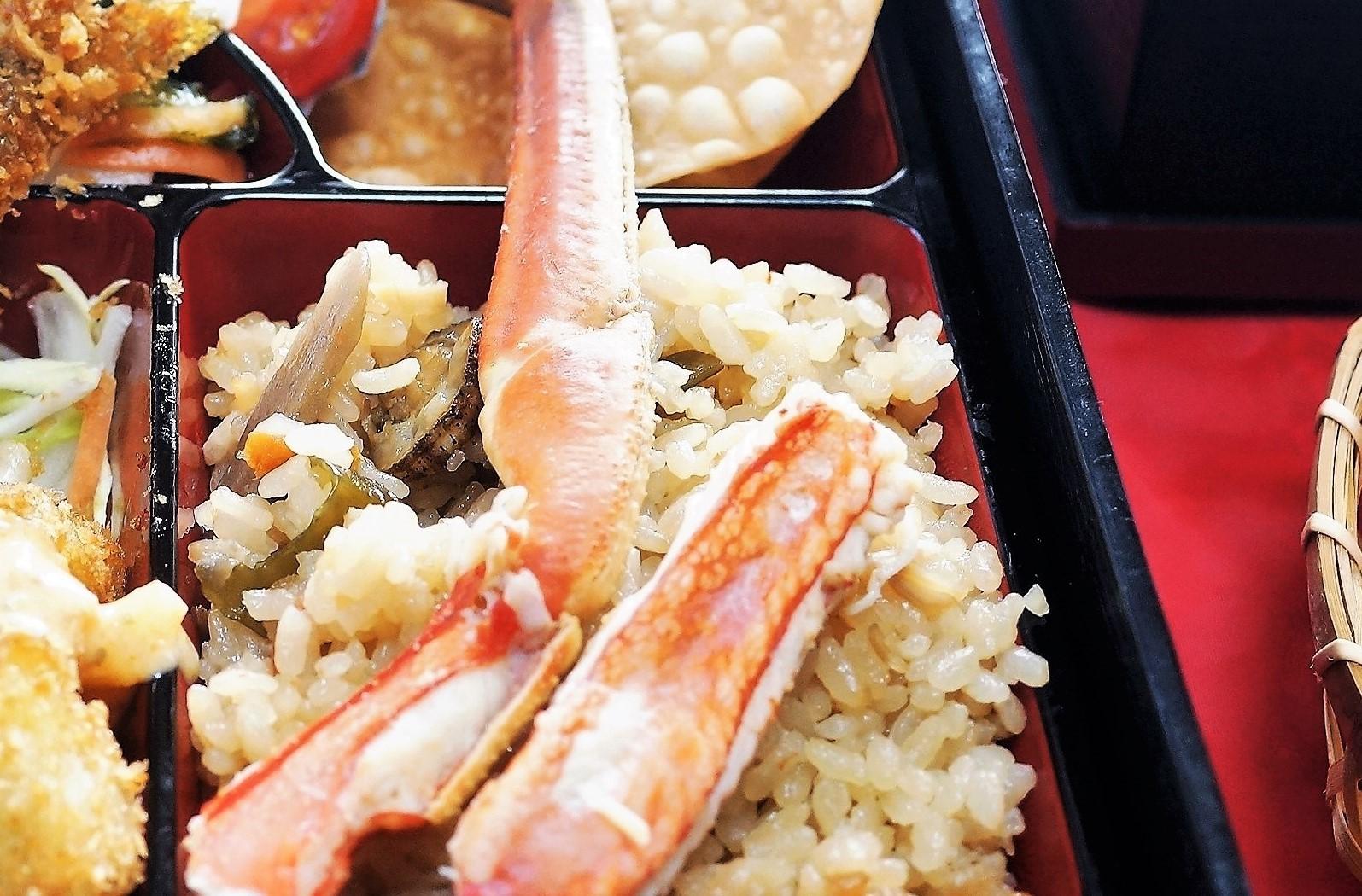 ■おもてなし料理【クリスマスケータリング②蟹と帆立バターの炊き込みご飯/ポテトパイ】_b0033423_19561982.jpg