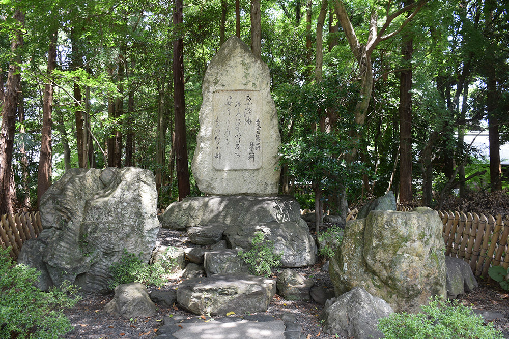 国宝・彦根城を歩く。 その9 <井伊直弼像、歌碑>_e0158128_20001846.jpg