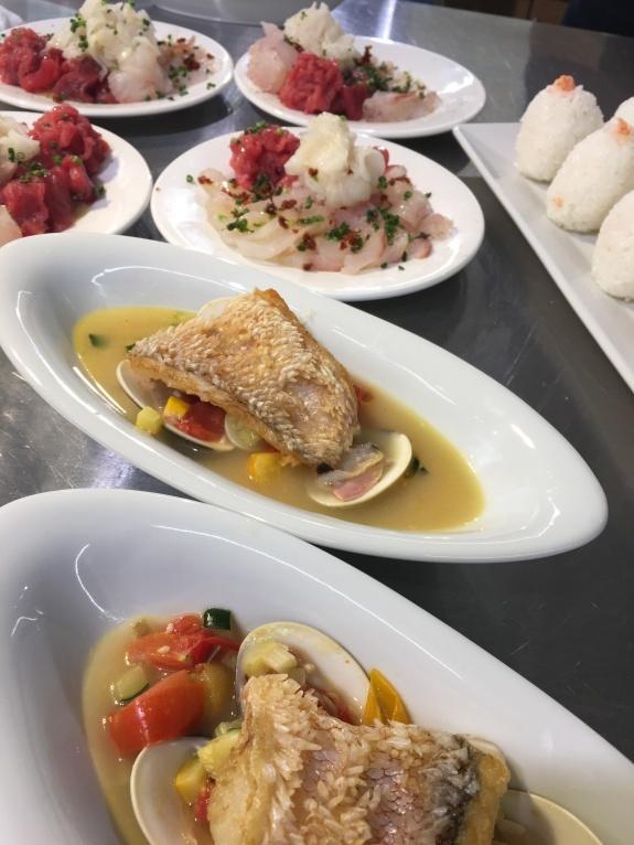 ドメニカ・ドーロ シェフのお魚料理レッスンを開催いたしました。_d0041729_12131667.jpg