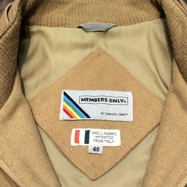 "80\'s~  \""MEMBERS ONLY\"" レインボータグ  Wool jacket!!!!!_c0355834_18472052.jpg"