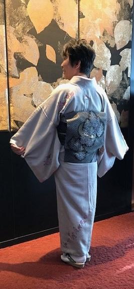 Xmasの帯のお客様・ご自分で描かれた着物・絞のツリーの帯。_f0181251_17511703.jpg