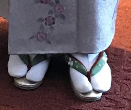 Xmasの帯のお客様・ご自分で描かれた着物・絞のツリーの帯。_f0181251_17534088.jpg