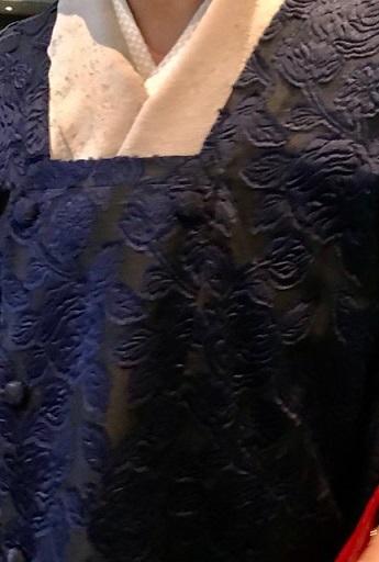 Xmasの帯のお客様・ご自分で描かれた着物・絞のツリーの帯。_f0181251_17581458.jpg