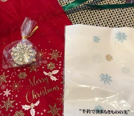 Xmasの帯のお客様・ご自分で描かれた着物・絞のツリーの帯。_f0181251_18123559.jpg