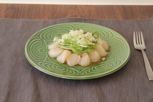 水菜とホタテのわさび醤油カルパッチョ_f0220354_15370272.jpeg