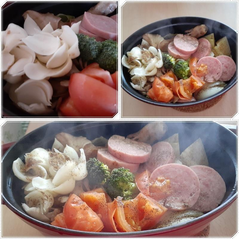 無水鍋野菜にもユリ根_b0236665_14341880.jpg