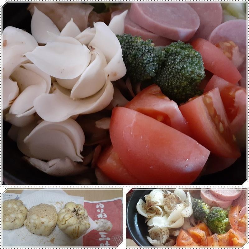 無水鍋野菜にもユリ根_b0236665_14351723.jpg