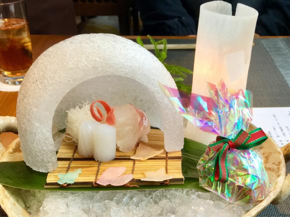 ホテル日航大阪 日本料理弁慶のクリスマスランチ_d0339676_16115103.jpg
