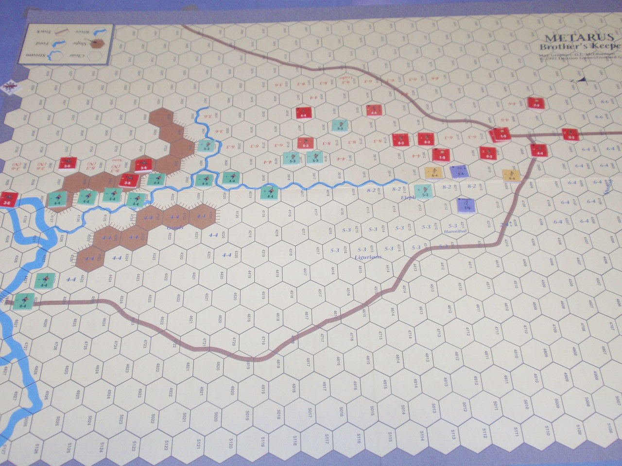 DG「Battles of the Ancient World」シリーズから「Metauras 207B.C.」をソロプレイ④_b0162202_19373668.jpg