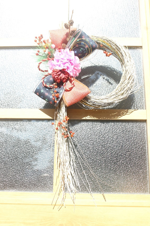 お花しめ縄_d0227610_11330594.jpg