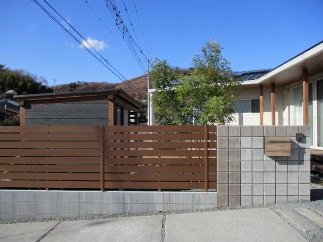 太田市で土間コンクリート洗い出し、物置工事が素敵に完成!_e0361918_12591674.jpg