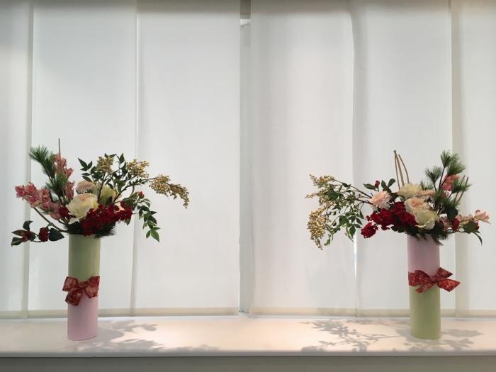 お正月のディスプレイ〜大阪ミルボン社さま_f0155431_21403318.jpg