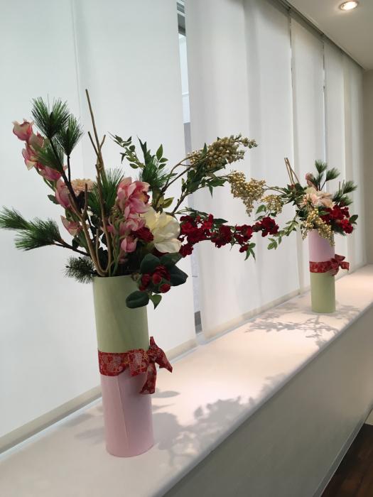 お正月のディスプレイ〜大阪ミルボン社さま_f0155431_21403467.jpg