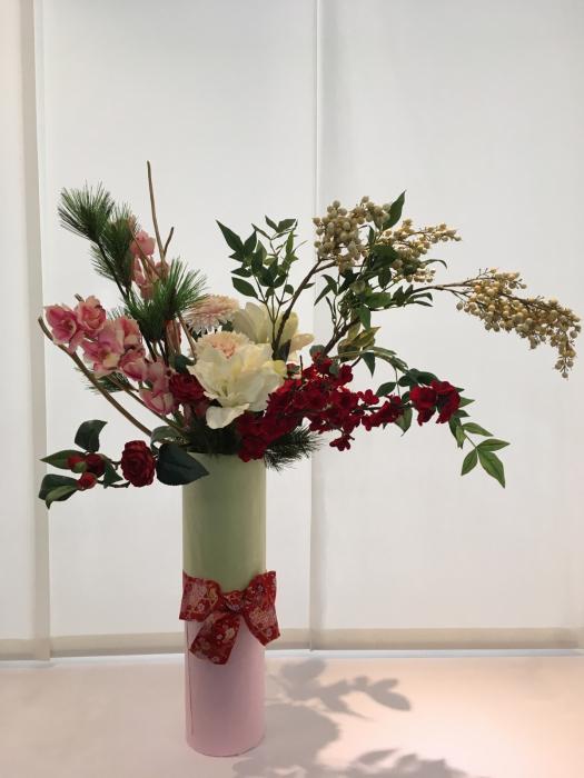 お正月のディスプレイ〜大阪ミルボン社さま_f0155431_21404253.jpg