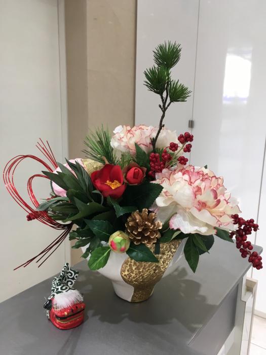 お正月のディスプレイ〜大阪ミルボン社さま_f0155431_21471059.jpg