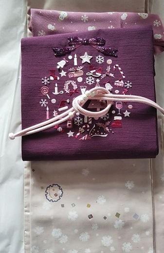 スワロ・パール・刺繍のXmas帯・青森と関東のお客様コーデ。_f0181251_19330208.jpg