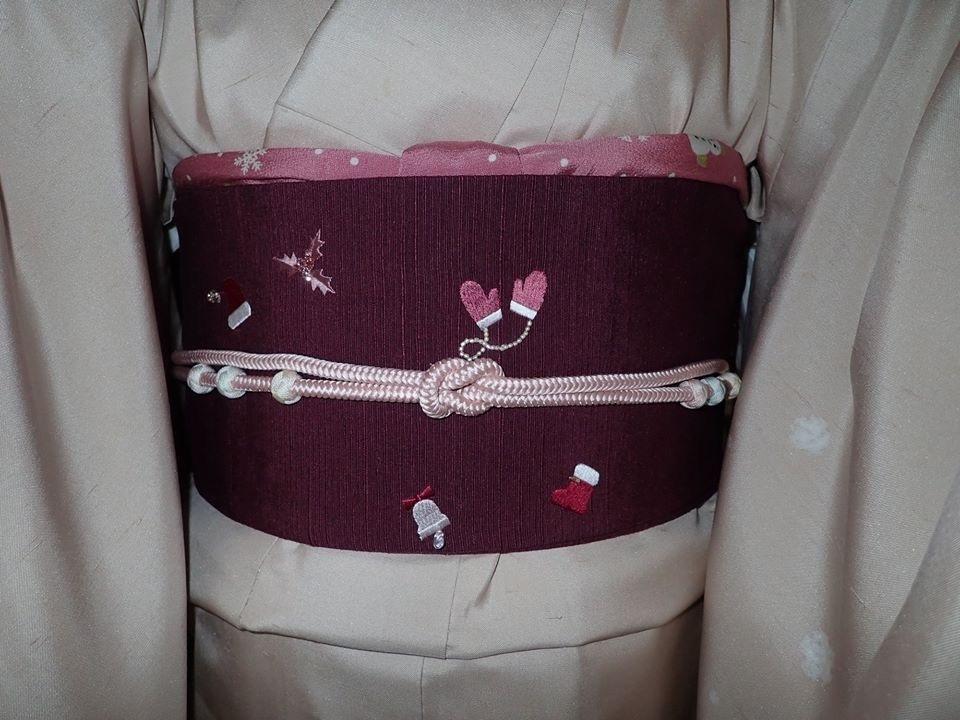 スワロ・パール・刺繍のXmas帯・青森と関東のお客様コーデ。_f0181251_19354340.jpg