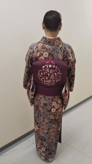 スワロ・パール・刺繍のXmas帯・青森と関東のお客様コーデ。_f0181251_19413504.jpg