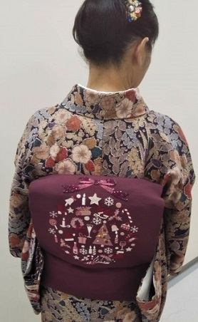 スワロ・パール・刺繍のXmas帯・青森と関東のお客様コーデ。_f0181251_19421497.jpg