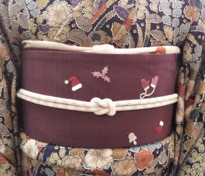スワロ・パール・刺繍のXmas帯・青森と関東のお客様コーデ。_f0181251_19481053.jpg