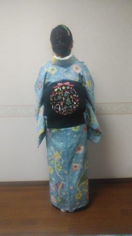 スワロ・パール・刺繍のXmas帯・青森と関東のお客様コーデ。_f0181251_19562514.jpg