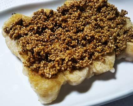 ごまだんご、みたらし風味な「玄米切もち」のおやつ。_b0126182_08571249.jpg