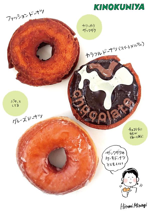 【エキナカベーカリー】KINOKUNIYA Bakery「ファッションドーナツ」「グレーズドーナツ」など【ザックザク】_d0272182_11172644.jpg